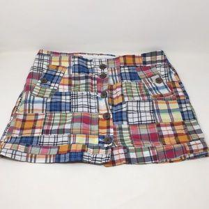 J. Crew Madras Plaid Skirt 8